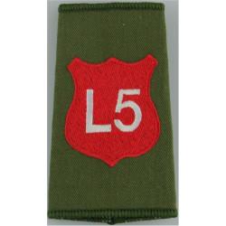 Infantry Training Centre Catterick: Light Div 5 Pl Post-2003  Embroidered Slip-on Army cloth shoulder title