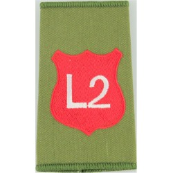 Infantry Training Centre Catterick: Light Div 2 Pl Post-2003  Embroidered Slip-on Army cloth shoulder title