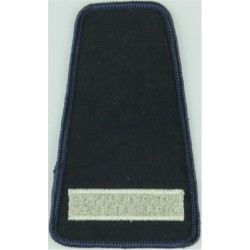 Collar Rank: Leading Fire-Fighter 1 Thick Bar - Small  Lurex Fire and Rescue Service insignia