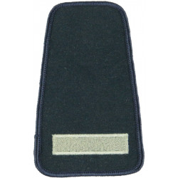 Collar Rank: Leading Fire-Fighter 1 Thick Bar - Large  Lurex Fire and Rescue Service insignia