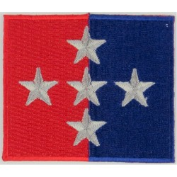 1st Military Police Brigade 5 Stars On Red/Blue  Embroidered Military Formation arm badge