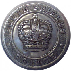 South Shields Police 24mm - 1952-1968 with Queen Elizabeth's Crown. Chrome-plated Police or Prisons uniform button