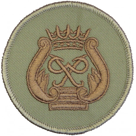 Royal Marines Prince's Badge - PP In Wreath On Stone Circle  Embroidered Marines or Commando insignia