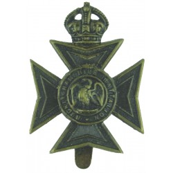 Oxfordshire & Buckinghamshire LI: Buckinghamshire Bn Maltese Cross  Blackened Other Ranks' metal cap badge