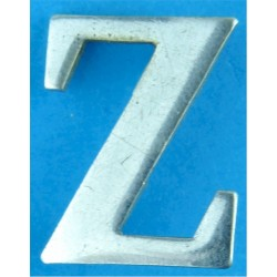 Police Shoulder / Collar Letter Z   Chrome-plated UK Police or Prison insignia