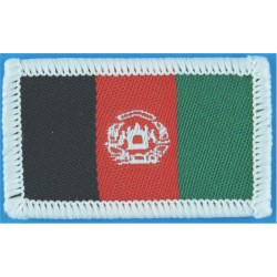 Arm-Flag - Afghanistan (White Border) 40mm X 25.5mm  Woven United Nations insignia