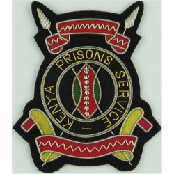Kenya Prisons Service Post-1963  Bullion wire-embroidered Overseas Police, Prison or Corrections insignia