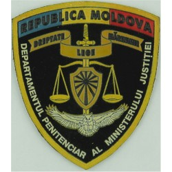 Moldova: Penitentiary Department & Justice Ministry Black Shield  Rubberised Overseas Police, Prison or Corrections insignia