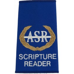 Soldiers' And Airmen's Scripture Readers Association On Blue  Embroidered Air Force Branch Badge