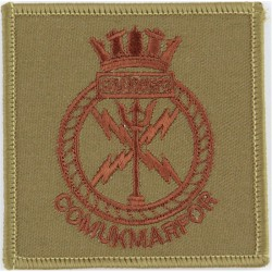 Commander UK Maritime Forces - COMUKMARFOR Brown On Light Brown  Embroidered Naval Branch, rank or miscellaneous insignia