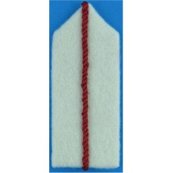 Royal Air Force Officer Cadet's White Gorget - A Sqn Red Centre-Stripe  Felt Air Force Rank Badge