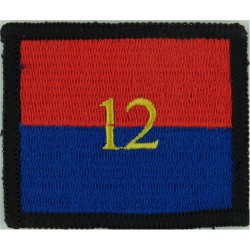 Royal Irish Regiment: 1st Bn (Shamrock/Black Square) Worn On Right Arm Embroidered Regimental cloth arm badge