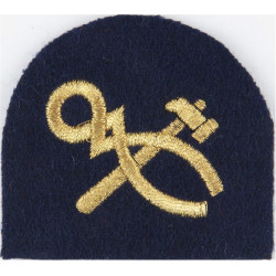 Royal Marines Tradesman (Crossed Hammer And Tongs) Trade: Gold On Navy  Lurex Marines or Commando insignia