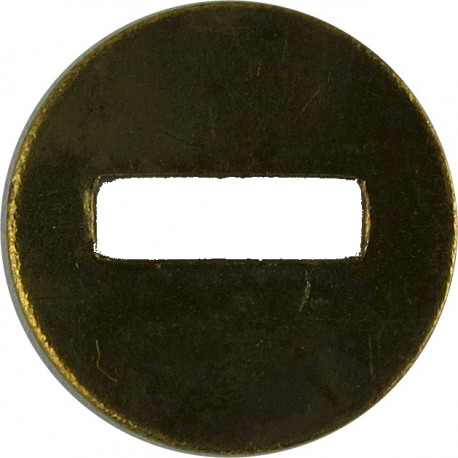 Back-Plate Washer Disc For Removable Uniform Button Small  Metal