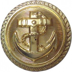 German Navy - Deutsche Marine 21mm - Post-WW2  Gilt Military uniform button