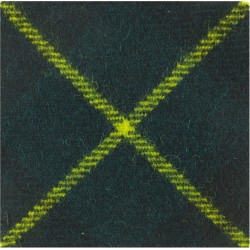 Aberdeen University Officers Training Corps Gordon Tartan  Tartan Badge Backing
