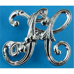 Fife Constabulary - Scotland - FC Script Letters Collar Badge  Chrome-plated UK Police or Prison insignia