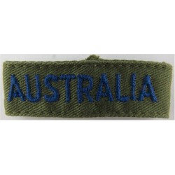 Australia - Slip-On Shoulder Title Blue On Olive  Embroidered Foreign Air Force insignia