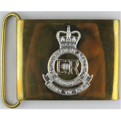 Royal Military Academy Sandhurst Badge On Belt Plate with Queen Elizabeth's Crown. Anodised on Brass Stable Belt, belt-plate or