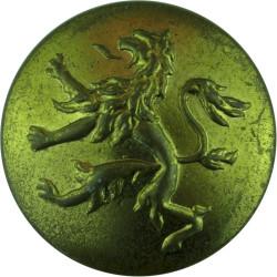 Belgian Army - No Rim 26mm  Brass Military uniform button