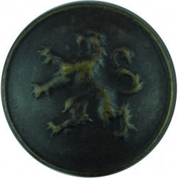 Belgian Army - With Rim 25mm  Blackened Military uniform button