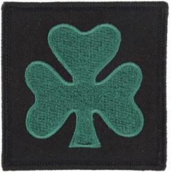 Royal Irish Regiment: 1st Bn (Shamrock/Black Square) Worn On Right Arm  Embroidered Regimental cloth arm badge