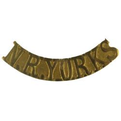 NR Yorks (Red Cross) Shoulder Title  Brass Ambulance Insignia