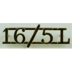 16/5L (16th/5th The Queen's Royal Lancers) Pre-1993  Anodised Army Staybrite shoulder title