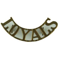 Loyals (Loyal Regiment (North Lancashire)) Post-1920 52mm Wide  Brass Army metal shoulder title