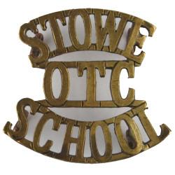 Stowe / OTC / School 1908-1940  Brass Army metal shoulder title
