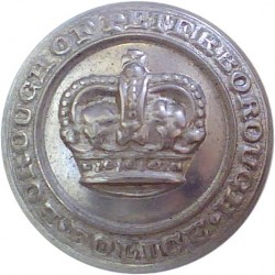 Peterborough Combined Police 17.5mm - 1952-1965 with Queen Elizabeth's Crown. Chrome-plated Police or Prisons uniform button