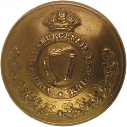 Royal Irish Regiment 25.5mm - 1902-1922 with King's Crown. Brass Military uniform button