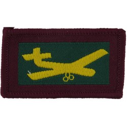 Mercian Regiment Tactical Recognition Flash Red/Buff/Green  Woven Regimental cloth arm badge