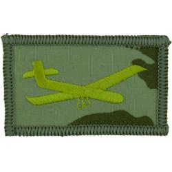 Glider (Staffords / King's Own Royal Border Regiment On Desert Camouflage  Embroidered Regimental cloth arm badge
