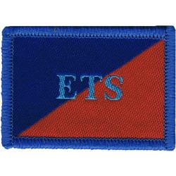 Adjutant General's Corps (Education & Training Serv) ETS On Red/Blue  Woven Regimental cloth arm badge