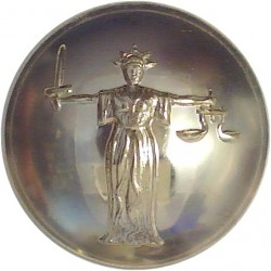 Army Legal Corps / Army Legal Services 25.5mm - Gold Colour  Anodised Staybrite military uniform button