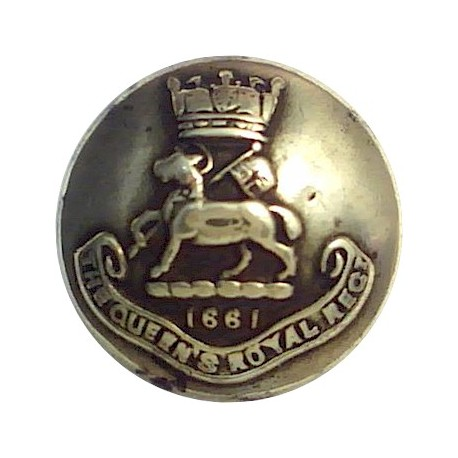 Queen's Royal Regiment (West Surrey) 14mm - 1909-1959  Brass Military uniform button