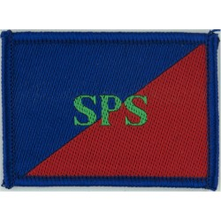 Adjutant General's Corps (Staff & Personnel Support) SPS On Red/Blue  Woven Regimental cloth arm badge