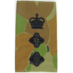 Australian Army Colonel's Rank Slide Black On Auscam with Queen Elizabeth's Crown. Embroidered Officer rank badge