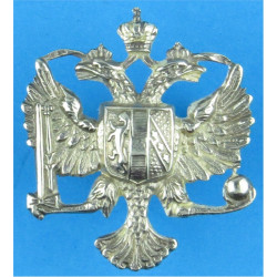 1st The Queen's Dragoon Guards   Silver-plated Officers' metal cap badge