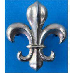Manchester Regiment - Fleur-De-Lys Type - Post-1923   White Metal Other Ranks' metal cap badge