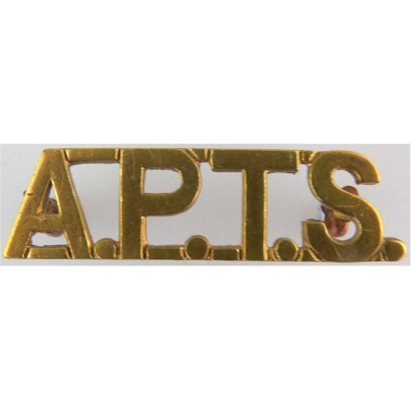 APTS (Army Physical Training Staff) Pre-1940  Brass Army metal shoulder title