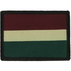 Royal Dragoon Guards Tactical Recognition Flash Maroon/Gold/Green  Woven Regimental cloth arm badge