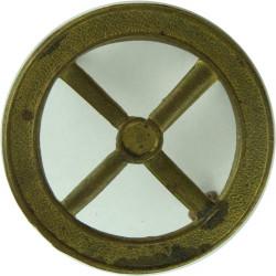 Steering Wheel - Driver (4-Spokes)   Brass Army metal trade badge