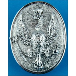 14th/20th King's Hussars WOs SNCO & Cpl's Armbadge Hawk On Oval Plate  Chrome-plated Regimental metal arm badge