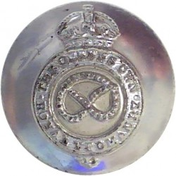 Staffordshire Yeomanry 17mm Silver Colour with King's Crown. Anodised Staybrite military uniform button