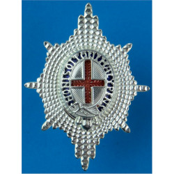 Coldstream Guards - Officers' Forage Cap Badge Modern Issue  Probably Silver Officers' metal cap badge