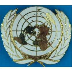 United Nations Beret Badge Other Ranks Pattern  Enamel Other Ranks' metal cap badge