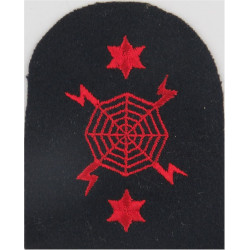 Radar Operations (Lightning Web) + 2 Stars Trade - Red On Navy  Embroidered Naval Branch, rank or miscellaneous insignia