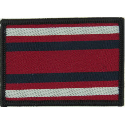 Queen's Lancashire Regiment Arm-Badge With Edging Black/Maroon/Green  Ribbon Regimental cloth arm badge
